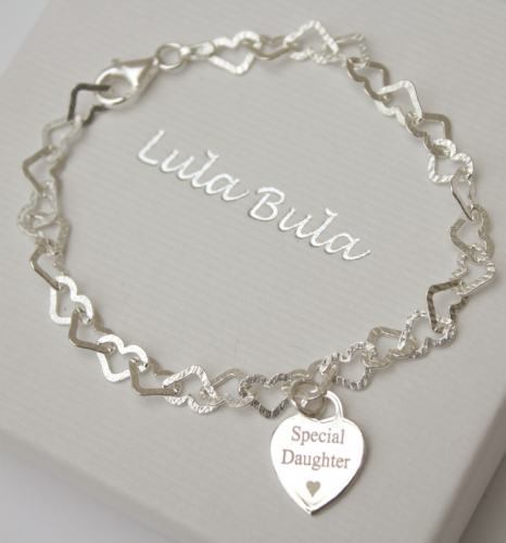 Gift for a daughter - silver bracelet - FREE ENGRAVING
